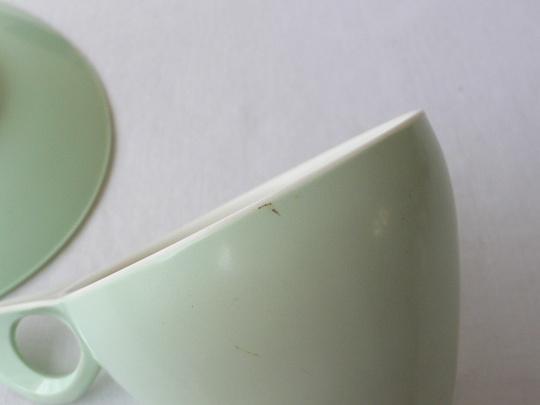 メラウェアのプラスティックC&S1950年代・草色 gc-149