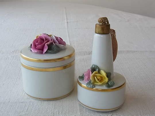 ドレスデンの香水入れ 薔薇 gk-253