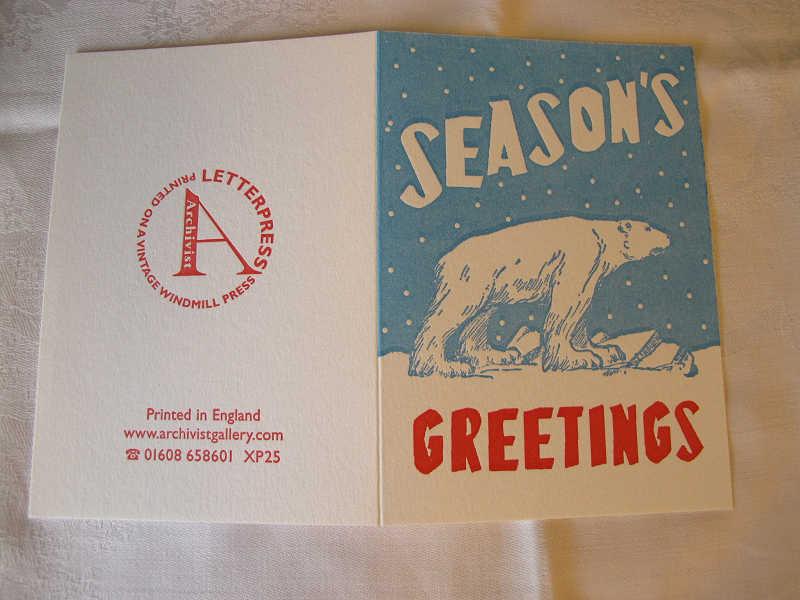 イギリスのクリスマスカード 北極グマ gx-032