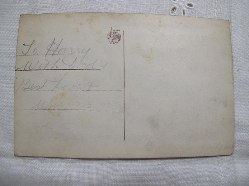 アンティーク刺繍カード 1917-18年 Best Wishes gx-080