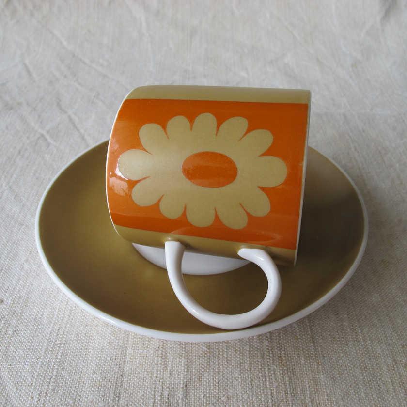 スージークーパー Susie Cooper Carnaby Daisy コーヒーC&S 1960年代 gc-353