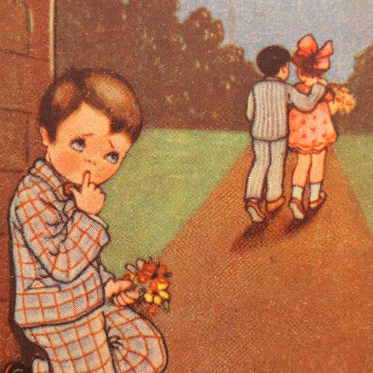 エストニアの可愛そうな男の子のポストカード gh-164