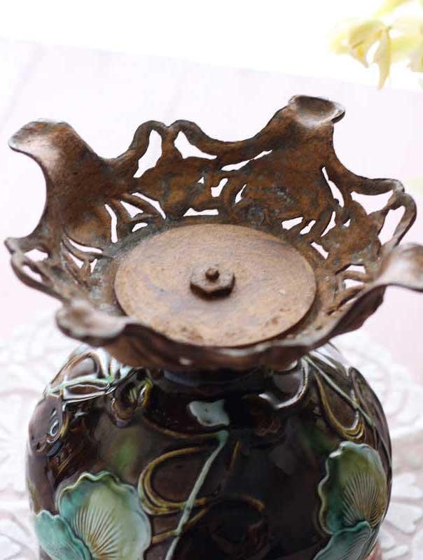 アンティークのベルギーのバルボティーヌ鉢カバー gc-487