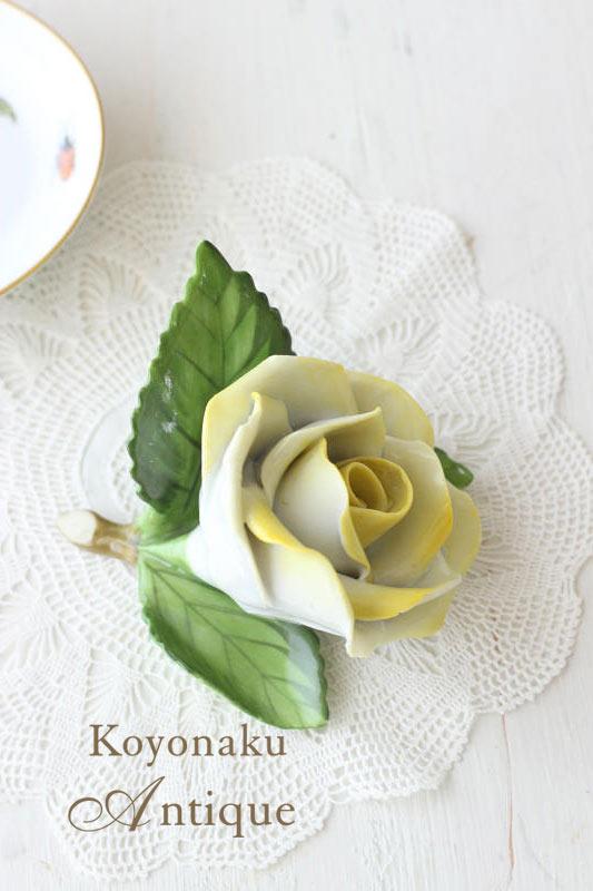 アンティークヘレンドの薔薇の置物 8×8×5cm gc-529