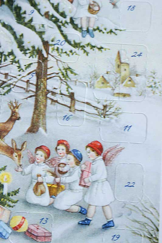 アドベントカレンダーのクリスマスカード 森のクリスマス gx-183