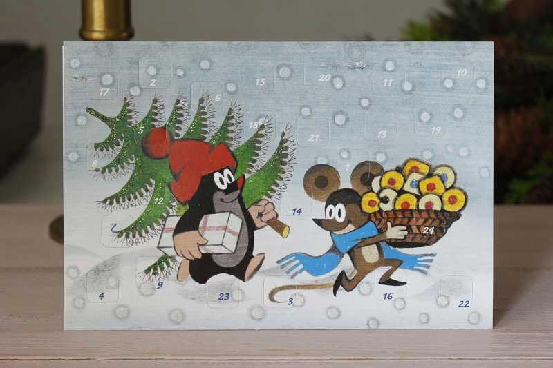 """アドベントカレンダーのクリスマスカード クリスマス準備A gx-185"""""""