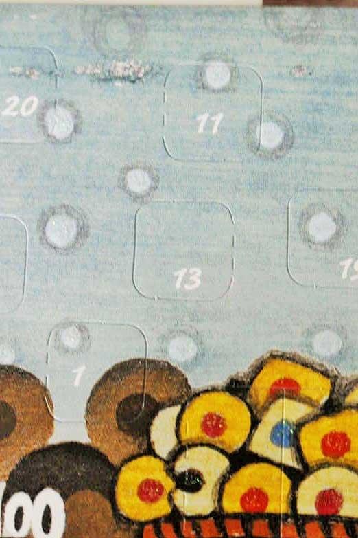 アドベントカレンダーのクリスマスカード クリスマス準備A gx-185
