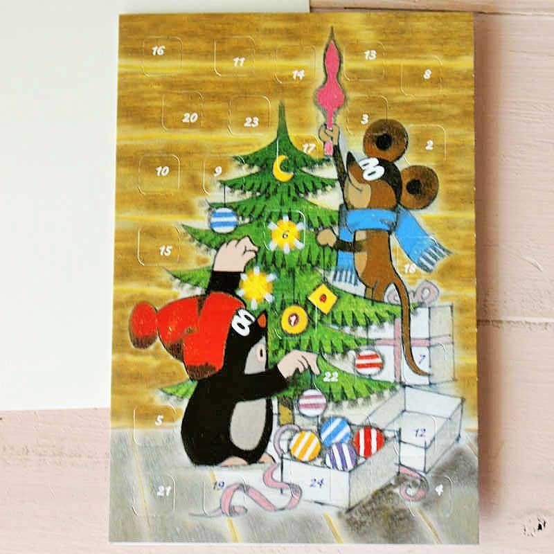 """アドベントカレンダーのクリスマスカード クリスマス準備B gx-186"""""""