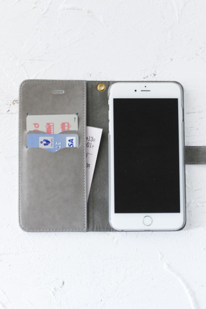 フォークロア刺繍プリントiPhoneケース 【手帳型】イラーショシュ go-004
