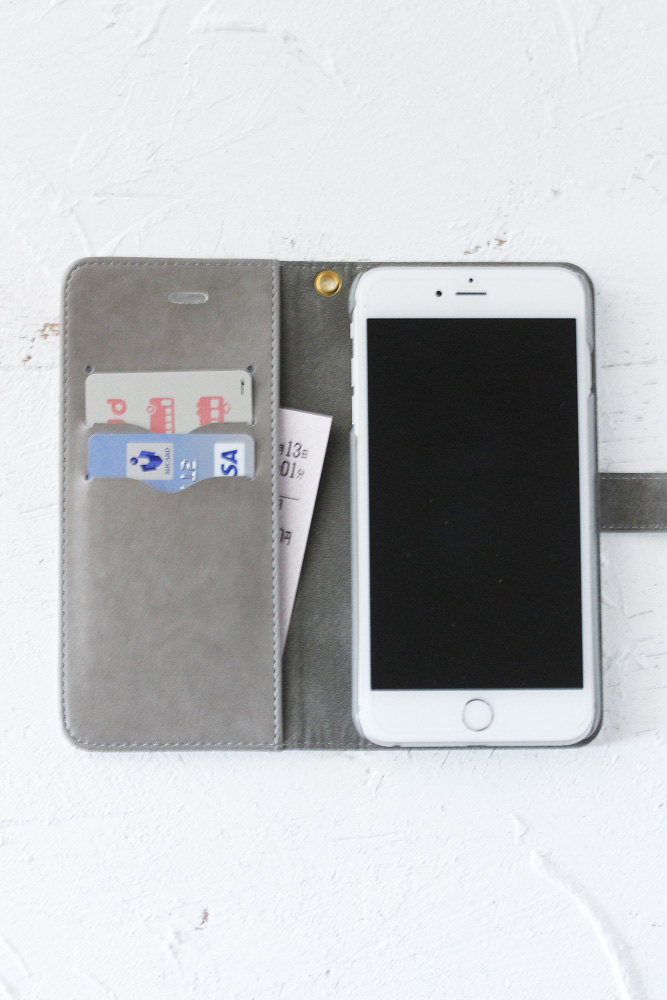 こよなくフォークロア刺繍プリントiPhoneケース【手帳型】クリスマス go-001