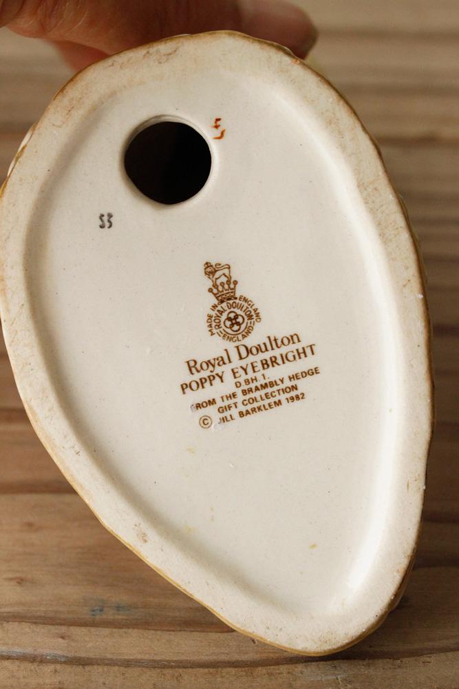 【限定1個】ロイヤルドルトン ブランベリーヘッジフィギュア ねずみのPoppy Eyebright gt-653