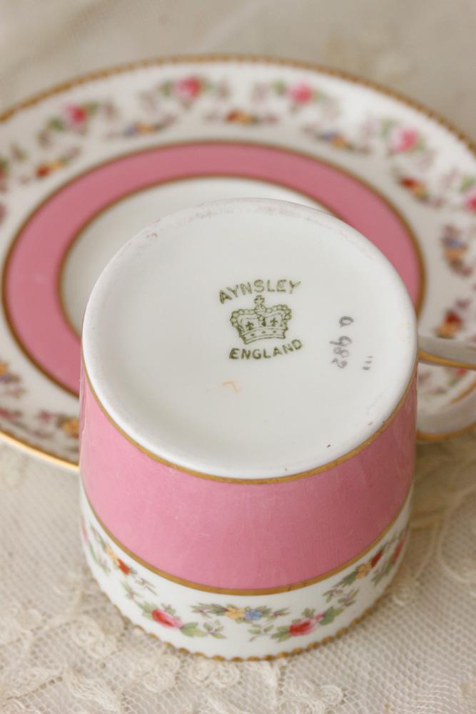 アインズレーAynsleyのピンクのデミタスC&S gc-613