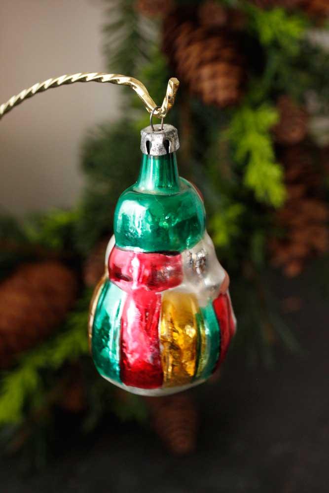 クリスマスの手吹きガラスオーナメント ボンプキ民族衣装の子供H8.3cm gx-234