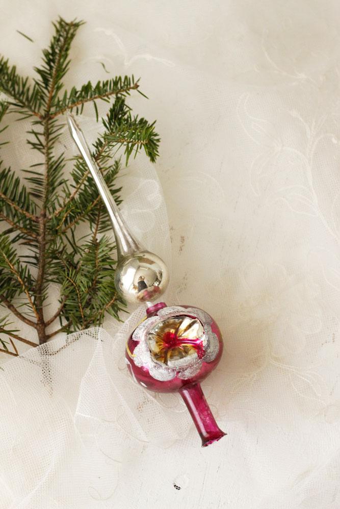 ンティーククリスマスガラスツリートッパー gx-239