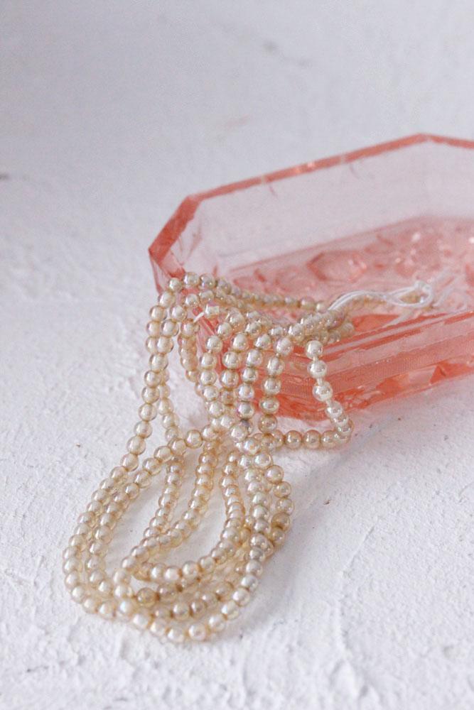 アンティークガラスパールビーズ gs-1079