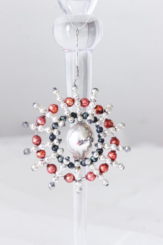 アンティークのチェコのガラスクリスマスオーナメント 太陽 gx-257