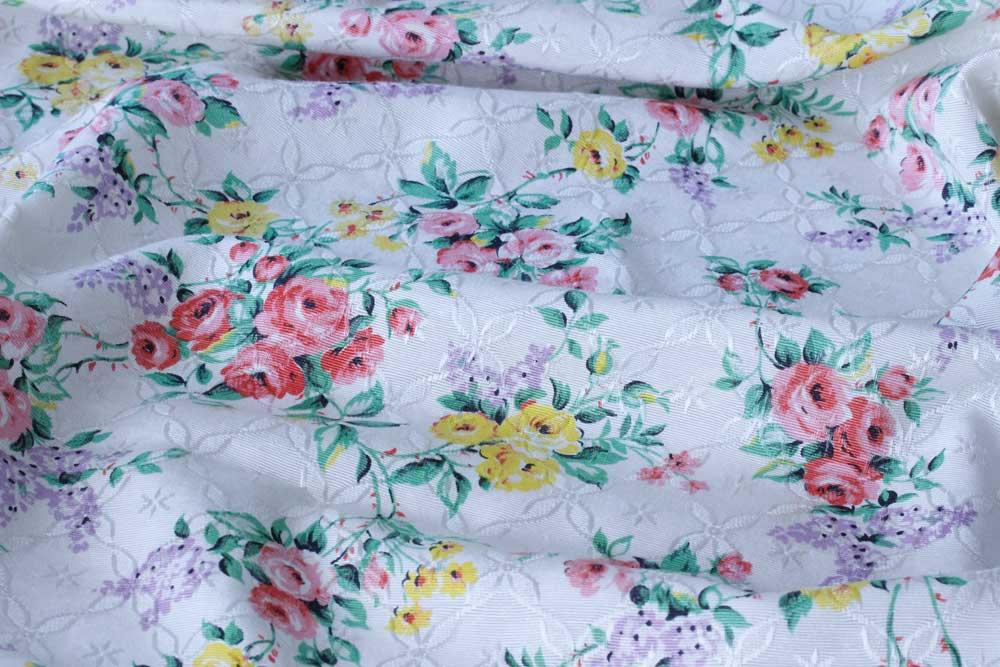 ヴィンテージのフレンチカーテン地 サイズ:W155×56cm gf-512