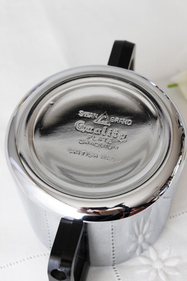 使いやすいクロームプレートのティーポット4点セット gc-634