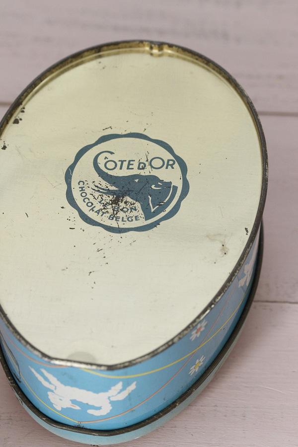Cote D'orのベルギーイースターひよこのチョコレート缶 1950年代頃 gk-421