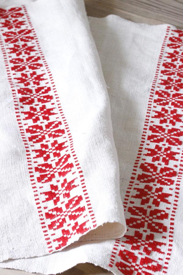 アンティークハンガリーリネン 刺繍のクロス 102×48cm ge-687