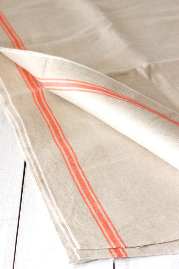 アンティークマングルクロスリネン オレンジ 90×296cm gli-0241