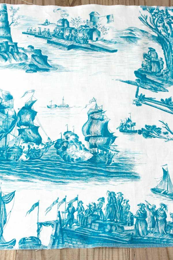 ヴィンテージフレンチトワルドジョイ 帆船 47×95cm gf-526