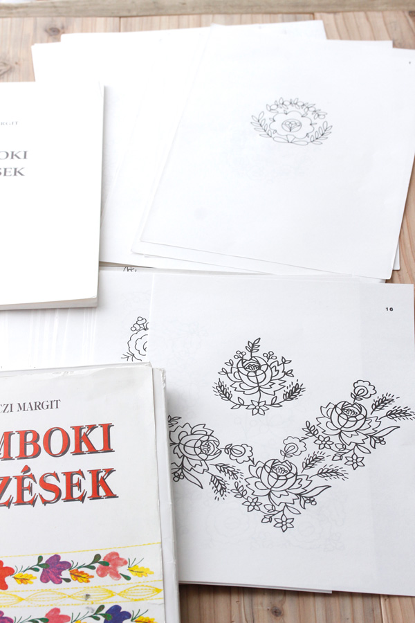 ハンガリー刺繍図案集 Zsamboki himzesek 1993年 gh-167