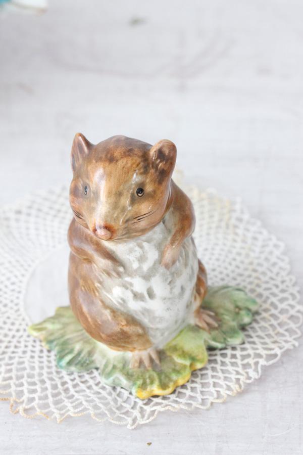 ビアトリクス・ポターの田舎ネズミ チミー ベズウイック製1948-1980年代 gt-676