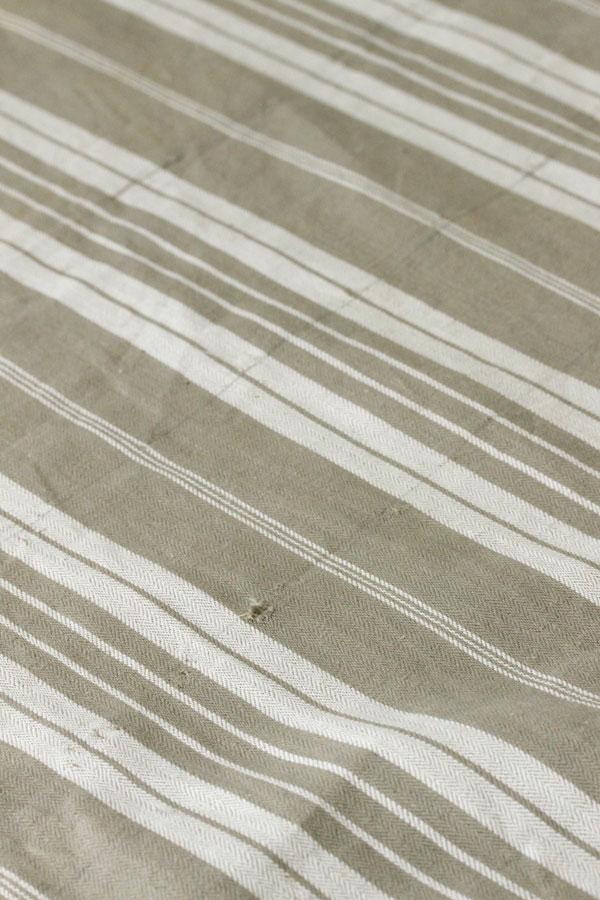ヴィンテージフレンチティッキング カーキ&アイボリーW157×50cm gli-0255