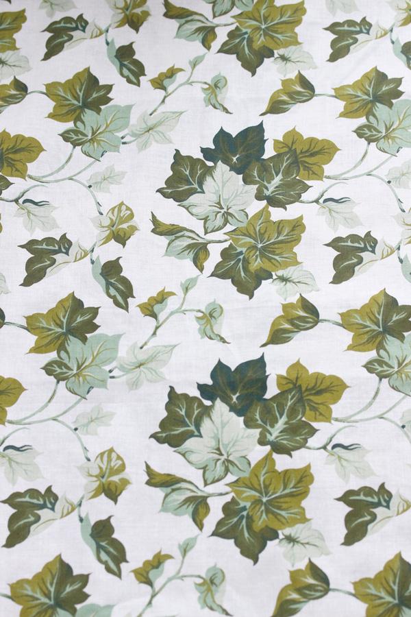 ヴィンテージブドウの葉っぱのインテリアコットンファブリック168×110cm 1970−80年代頃  gf-581