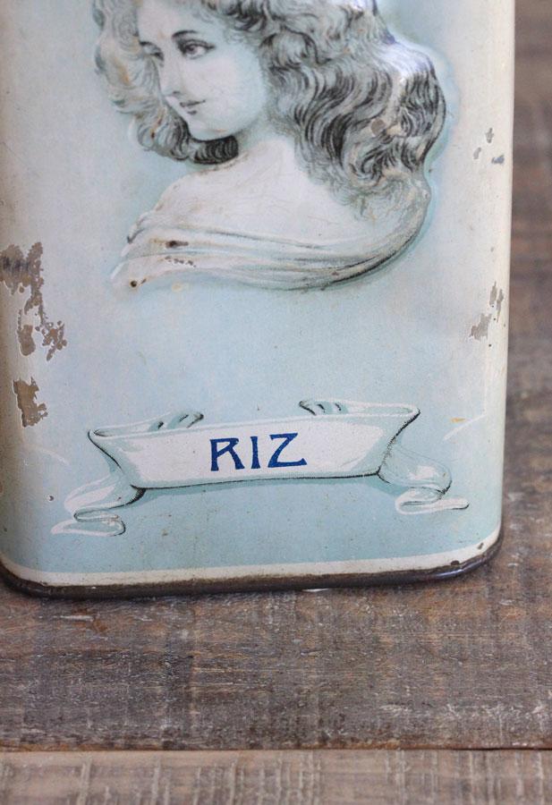 ベルギーの女性がレリーフになった美しいティン缶 W10.5×H18.5cm gk-448