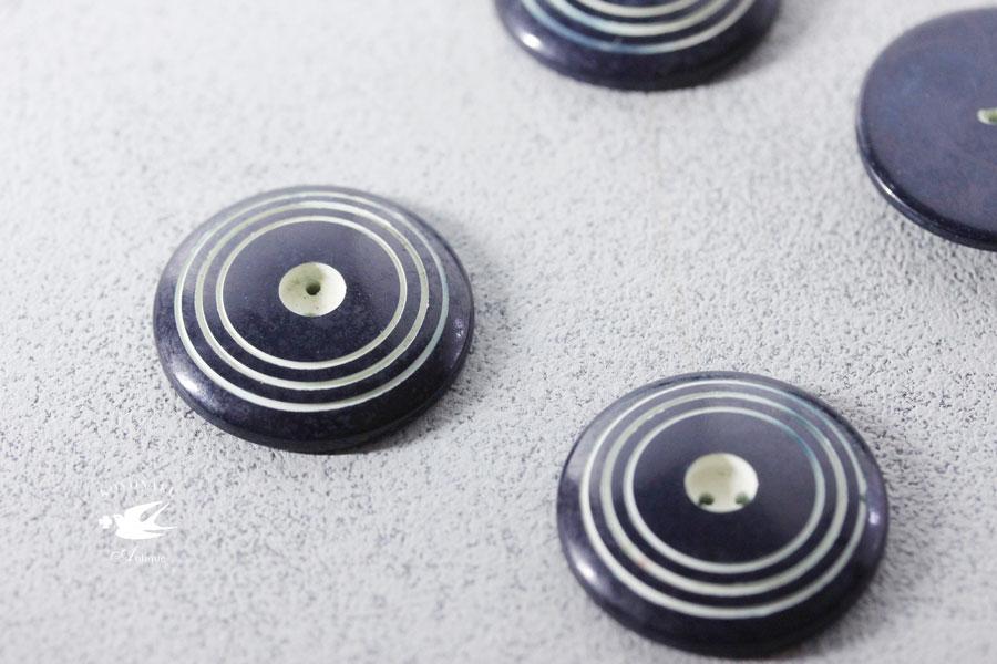 アンティークガラリットボタン3cm gs-1156