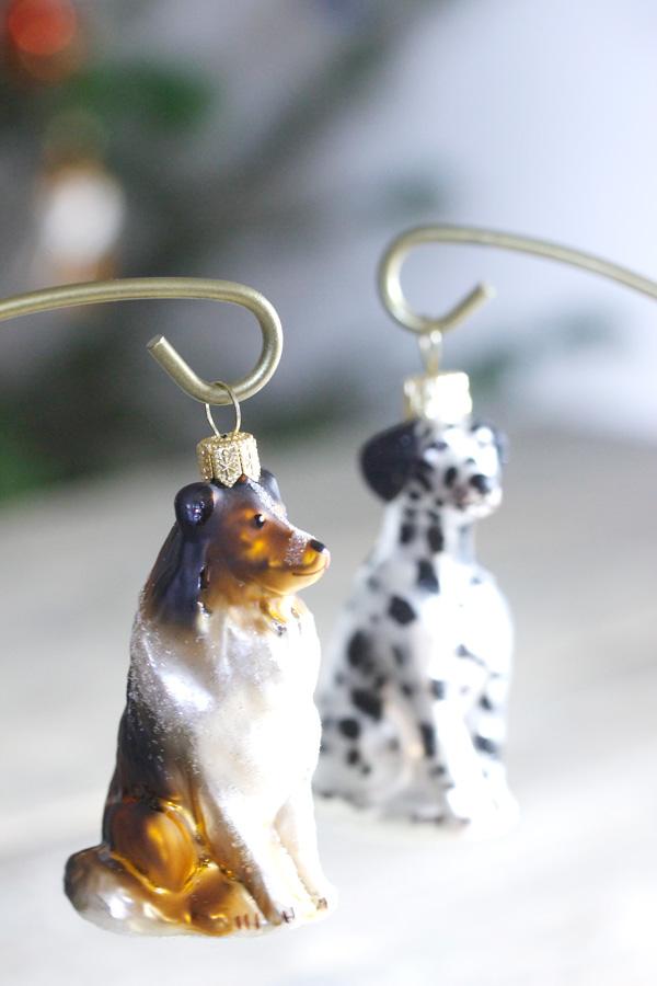 リバティで見つけたガラスオーナメント コリー犬 gx-310