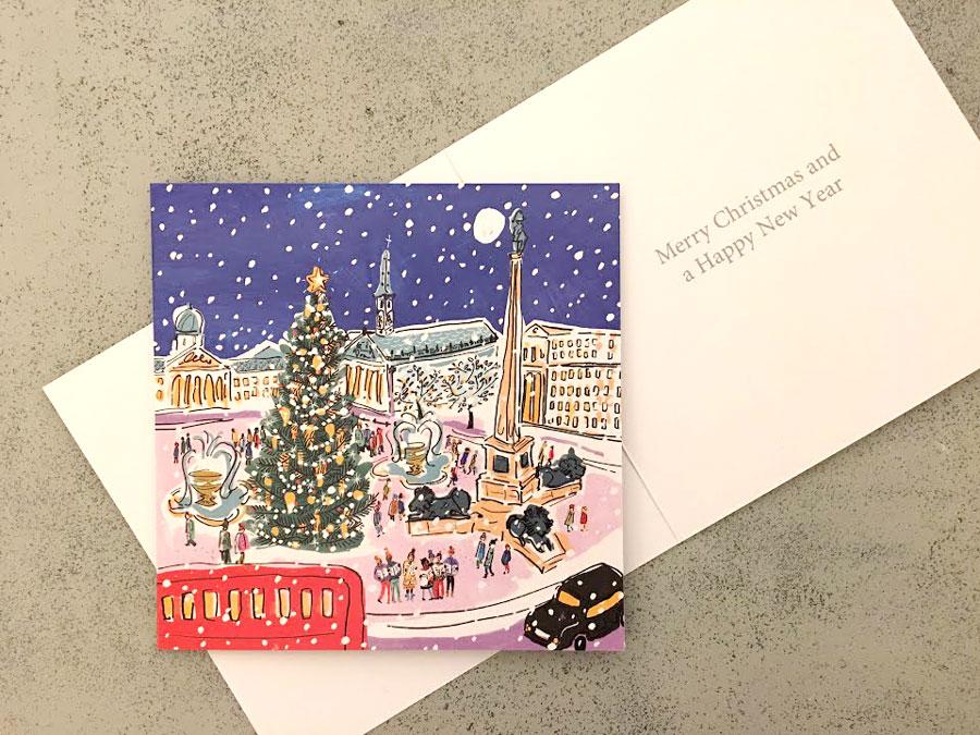 8,000円以上お買物でロンドントラファルガースクエアのクリスマスカードプレセント