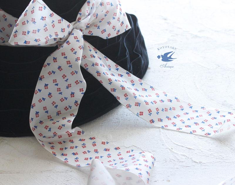 ヴィンテージフレンチレーヨンリボン小花W6.7×100cm gs-1188