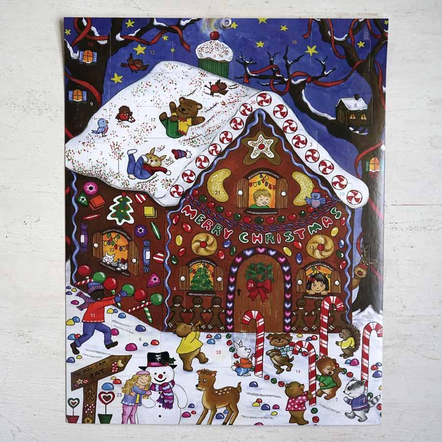 アドベントカレンダージンジャーブレッドハウス28×35cm gx-379