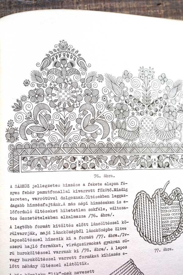 ハンガリーザラ県のホワイトワーク刺繍の本 Minta Gyujte Meny gh-214