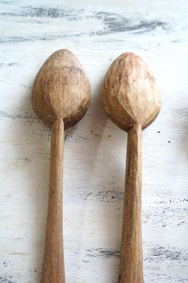 アンティークルーマニア 木彫りスプーン 25.5cm gk-498