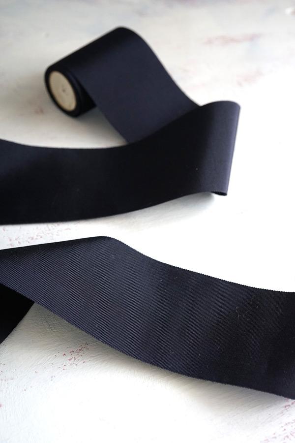 ヴィンテージグログランリボン 濃いネービー W10×100cm gs-1231