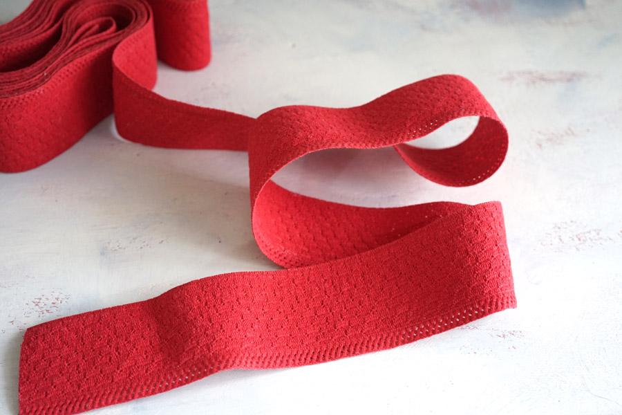 ヴィンテージ赤のエスパドリーユのテープW7.5×100cm gs-1232