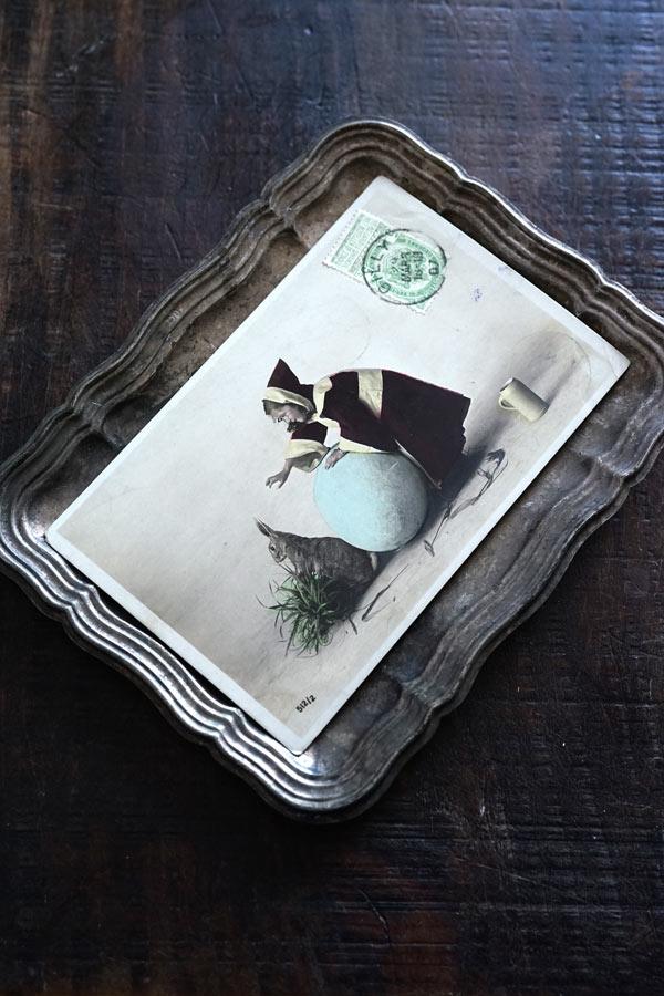 アンティーク写真印刷のイースターカード1907年 gh-226