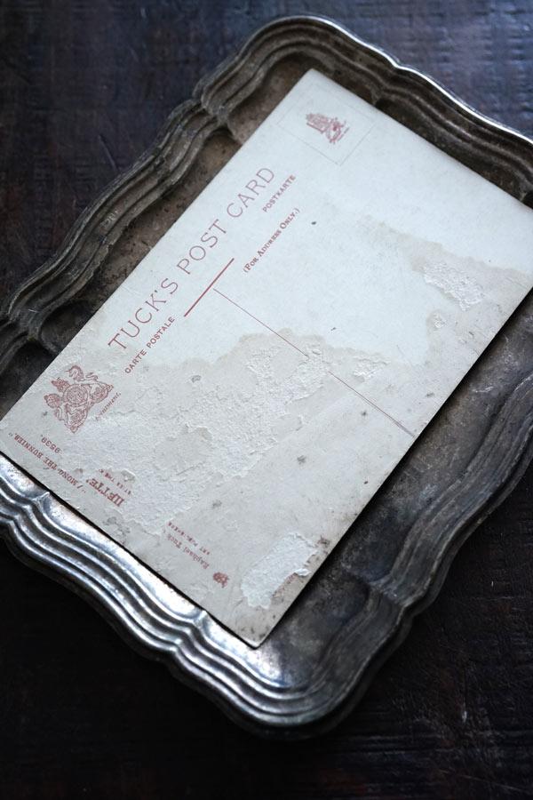 アンティークイースターバニーとひよこのポストカード gh-227