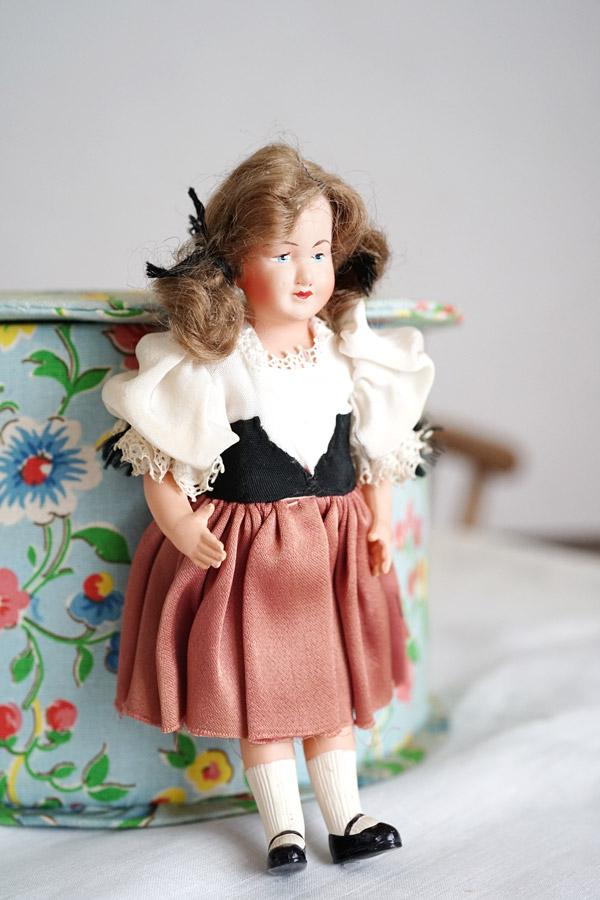フランスのセルロイドドール 少女18cm gt-810