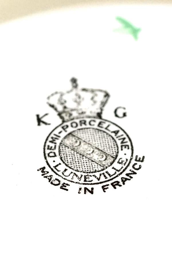 ヴィンテ—ジK&G Lunevilleの薔薇のディーププレート 25×4cm gc-779