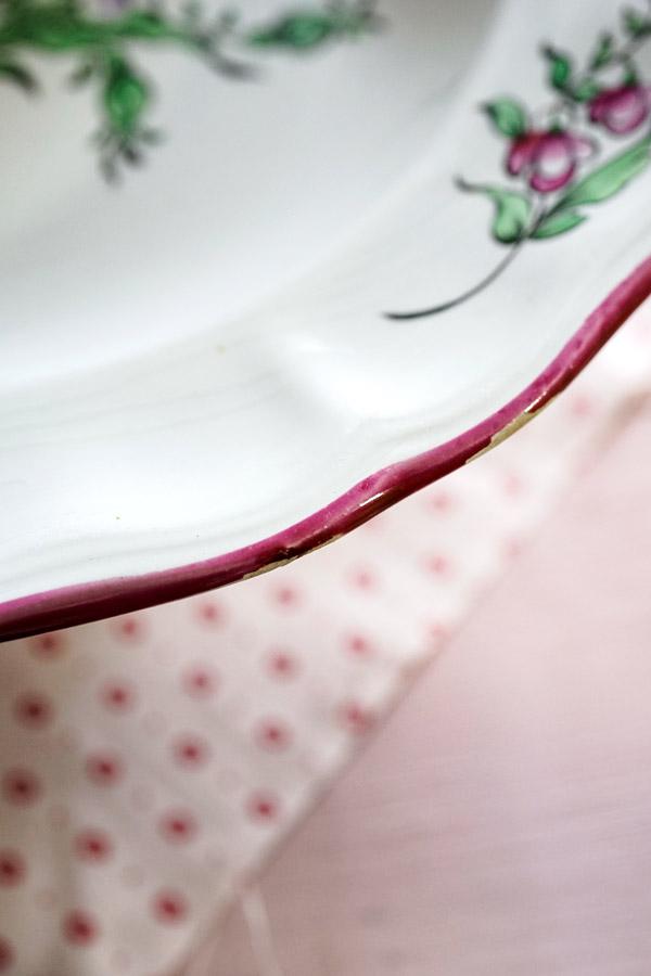 ヴィンテ—ジK&G Lunevilleの薔薇のディーププレート 25×4cm gc-780