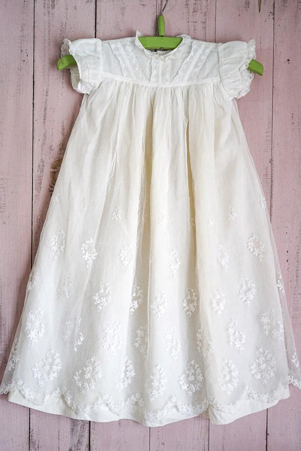 アンティーク洗礼式用ベビードレス61cm gd-186