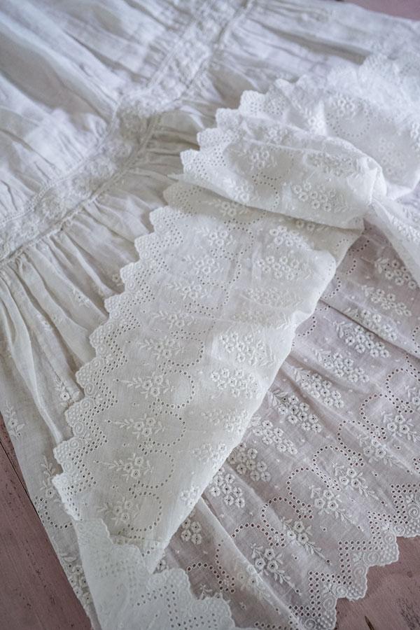 アンティークコットンレースドレス子供用 gd-187