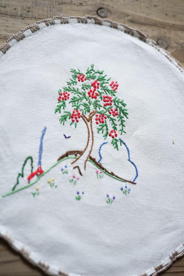 イングリッシュガーデンシリーズの刺繍マット6枚セット22cm ge-806