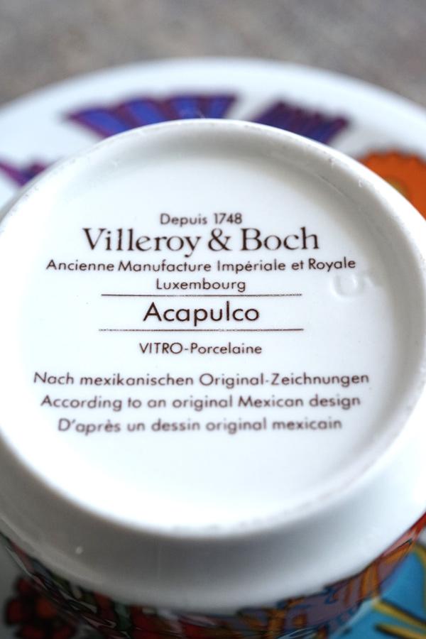 ヴィンテージVilleroy & Boch Acapulco C&S1960年代ルクセンブルグ製 gc-786