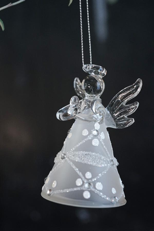 リバティガラスクリスマスオーナメント北極の天使H8.3cm gx-443